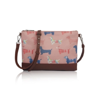 Small Crossbody Dog Mania - RŮŽOVÉ